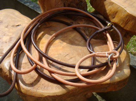 6MM  Rolled English Leather Slip Show Lead